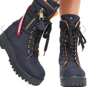 Poster Girl Combat Flight Boots BRAND NEW IN BOX